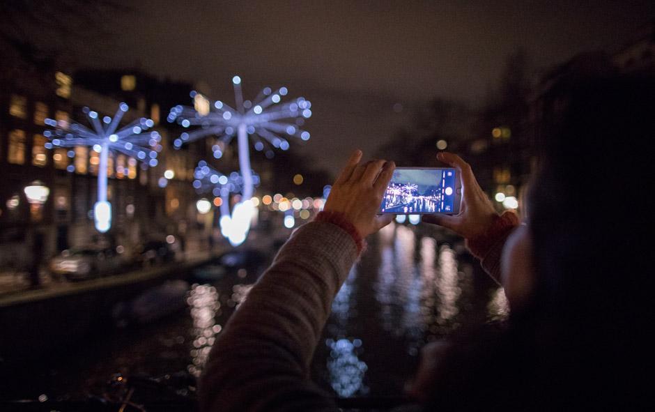 Taking photos, making wishes
