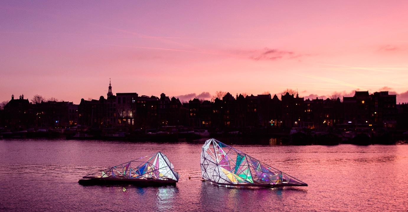 The light art is premiering in Amsterdam