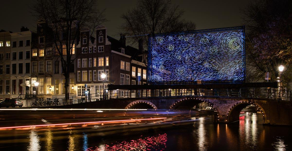 Starry night - Van Gogh at the Amsterdam Light Festival